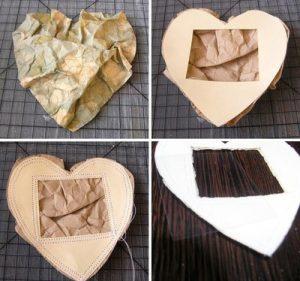cách làm khung ảnh trái tim