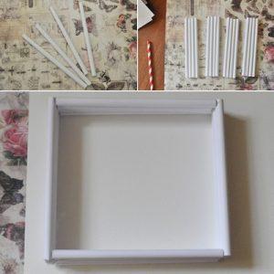 cách làm khung ảnh bằng giấy đơn giản