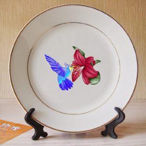 In hình ảnh lên dĩa, in logo trên đĩa sứ giá rẻ