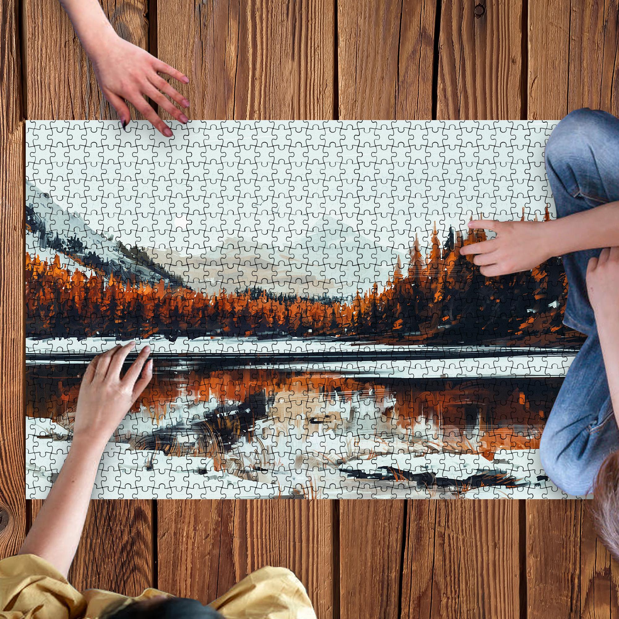 Tranh ghép hình - xếp hình 1000 mảnh